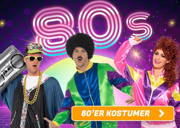 80'er Kostumer I Temashop.dk