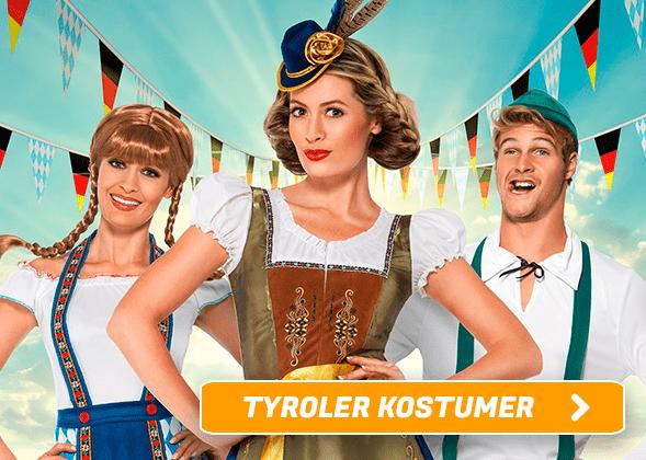 Tyroler kostumer I Temashop.dk